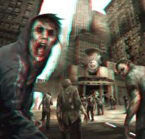 Zombie City 3-D conversion by MVRamsey