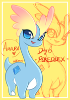 POKEDDEX DAY 6- Amaura by Chao-Illustrations