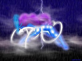 Suicune in the rain by TheLegendaryThree