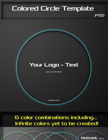 Colored Cirle Template PSD Put your Text by MattiaMc