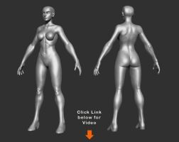 Video - Making a female body base by HecM