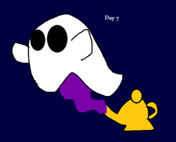 31 days of Mixel halloween- Samhal the ghost by thehypercutter