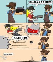 TF2: Scout Girl's F.A.N? by Selecthumor