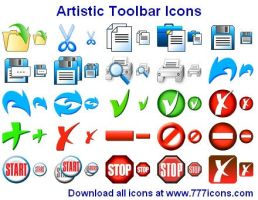 Artistic Toolbar Icons by Ikont