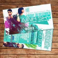Nina Sky party flyer Noxx Antwerp by Adriano09