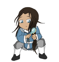 Chibi Tarrlok brushing by goodwinfangirl