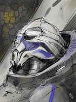 Exhausted Garrus by Kasimova