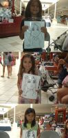 Mall Caricatures a 080311 by raccoon-eyes