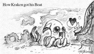 Kraken and his Boat by PsychedelicMind