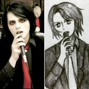 Gerard Way in Anime Style by MarvaNinella
