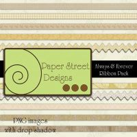 Always and forever ribbons by paperstreetdesigns