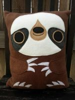 Sloth pillow by Telahmarie