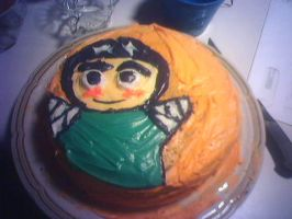 Rock Lee cake by invader-gir