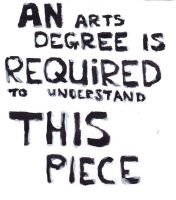 'An Arts Degree Is Required...' by Liam-Donnelly