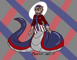 Stars, Stripes, and Scales (Hatched Egg adopt) by CannibalHarpy