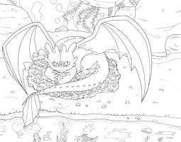 Toothless - Inked by Skuldier