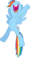 Happy Rainbow Dash by Fehlung
