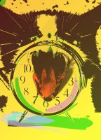 One Cat, One Clock, One Fruit. by Early-Bird-Special