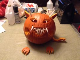 Halloween Devil Pumpkin 2013 by NINJAWERETIGER