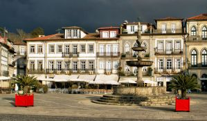 Camoes square in Ponte de Lima, Portugal by vmribeiro