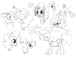 Pinkie Party Dump by bronyseph