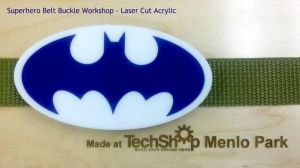 Superhero laser cut belt buckle by Alyssa-Ravenwood