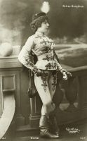 Vintage woman is hussar uniform 001 by MementoMori-stock