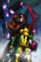 Gambit and Rogue by roganJ0SH