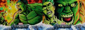 Avengers sketch cards Hulk by KidNotorious