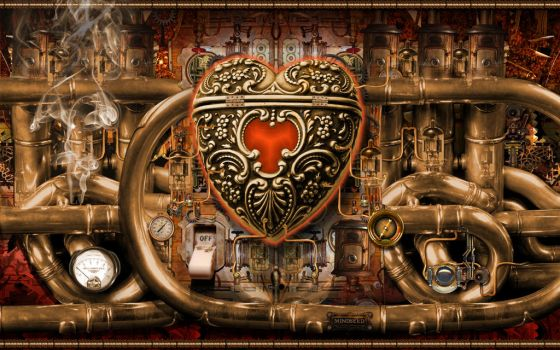 Steampunk Love by mindseed-design