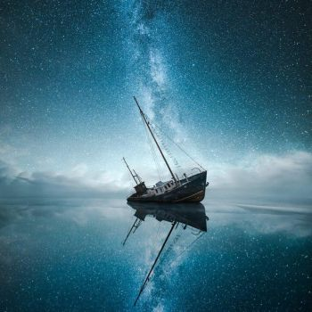 Ship under the stars by Printing-Services