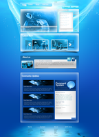 Blue Web Template by KustomzGraphics