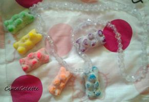 Sour Gummy Bear Necklace by CircaColette