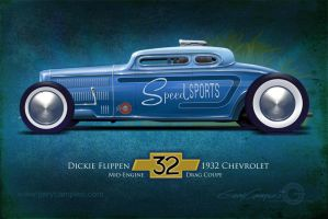 Speed Sport 1932 Chevy Drag Coupe by GaryCampesi