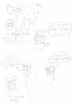Count Olaf Sketches by ScroogeMacDuck