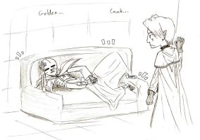 Tomb of the Golden Couch by MidevalExponents2sqr