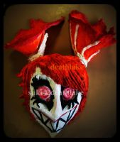 insane creepy clown head sculptor by suki42deathlake