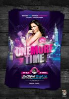 One More Time Flyer Template by EAMejia