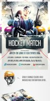 Hockey Match Flyer Template by saltshaker911