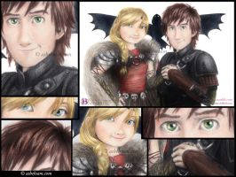 Close Up - Hiccup and Astrid by Aty-S-Behsam
