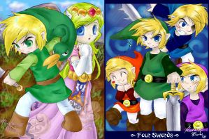 Minish Cap and Four Swords by starshock12