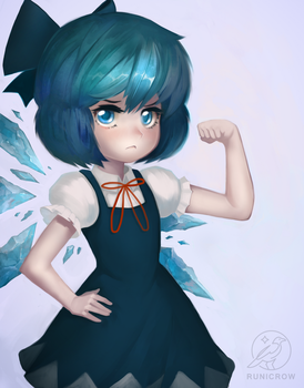 Cirno by Runicrow