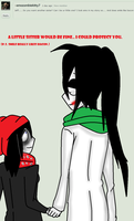 Ask Jeff The Killer-Question 50-20. by MikaelBratLoni