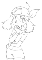PKMN Trainer May - uncoloured by Dann-The-Yoshi