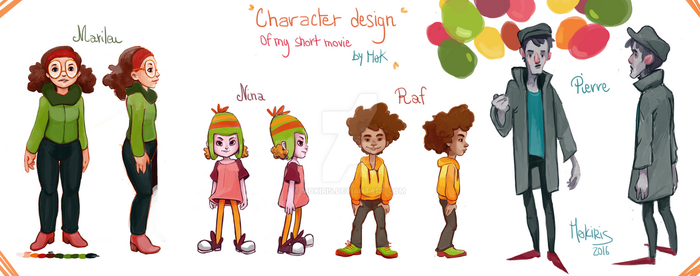 Character design of my short animation by Mokiris