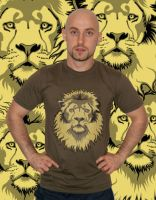 Lion Head T-Shirt Model by Rustyoldtown