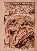 Spider-Man cover woodburning by NerdCraft