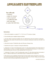 Cardy-board Tube Hat Template for Applejack by countschlick