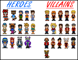 Heroes vs. Villains in SFC by Kirby-Kid