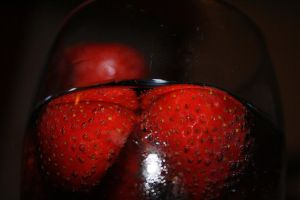 glass full of strawberries 2 by munkfeavor76